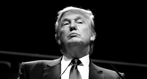 Donald trump black and white